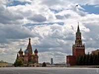 Bird's Flight over Cordoned Red Square
