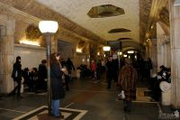 Richly Decorated Central Hall of Novokuznetskaya Station