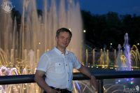 Moscow Guide at Color Light Fountains in Tsaritsyno