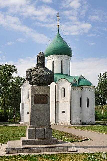 Monument to Alexander Nevsky at Transfiguration Cathedral