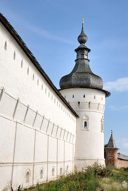 Grigoryevskaya Tower and Wall of Rostov Kremlin