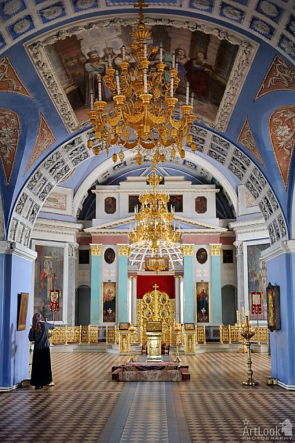 Inside the Cathedral of St. Dmitry of Rostov