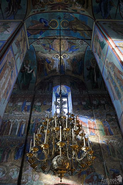 Panikadilo and Frescoes at Western Wall of Assumption Cathedral