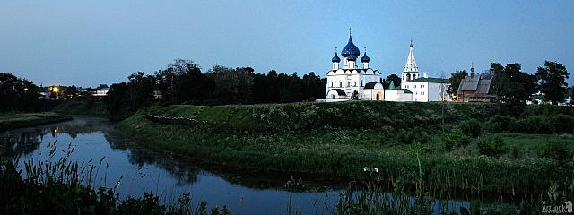 Suzdal at Twilight – Panorama of Kremlin and Kamenka River