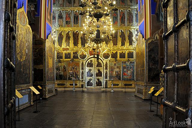 At the Entrance to the Cathedral of the Nativity of the Virgin