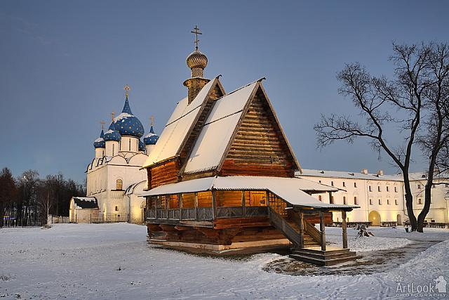 Getting Dark Over the Churches of Suzdal Kremlin