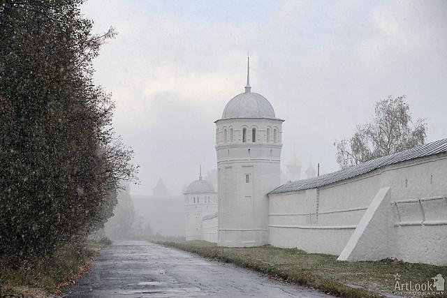 Fortification Wall & Towers of Intercession Covent Under Snowfall