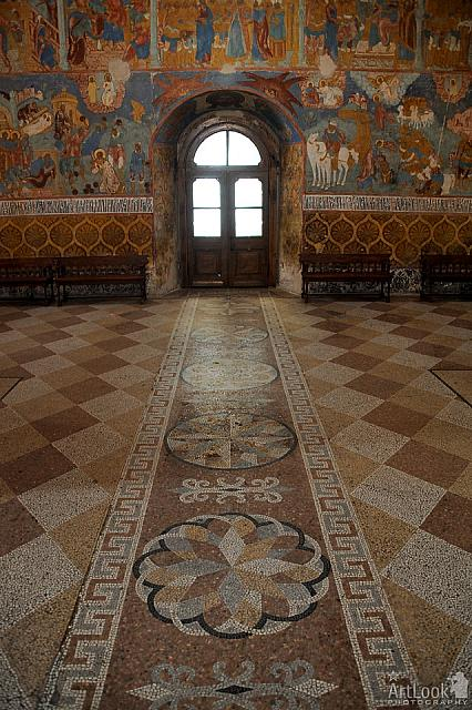 Mosaic Walkway to Western Entrance of Transfiguration Cathedral