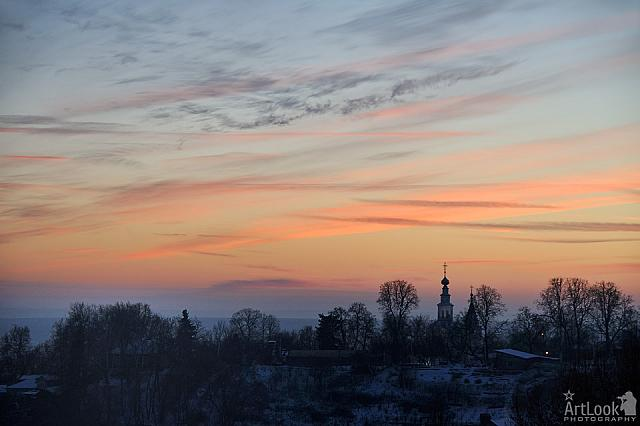 Winter Sunset in Vladimir City
