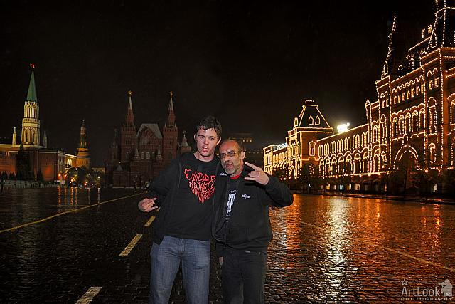 Heavy Metal over the Red Square at Night
