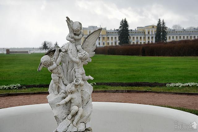 Sculpture of Cupids with White Swan (Fountain)