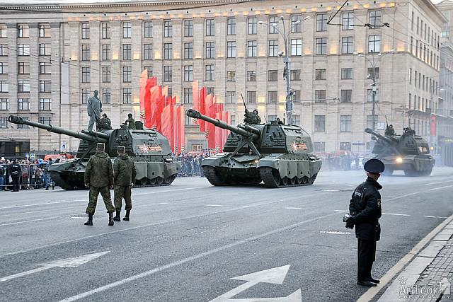 "Meeting the New Self-Propelled Howitzers ""Koalitsiya-SV"""