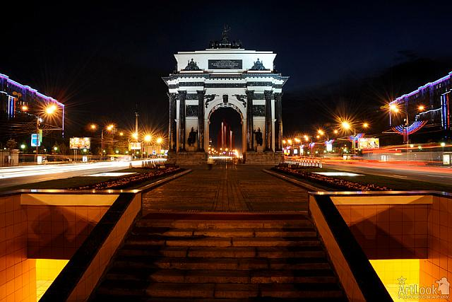 In The Glory of Lights - Triumphal Arch at Night