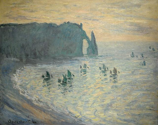 Cliffs at Etretat (1886)