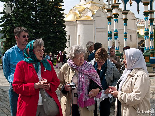 On Cathedral Square of the Holy Trinity St. Sergius Lavra