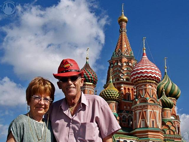 Under Domes of St. Basil's cathedral