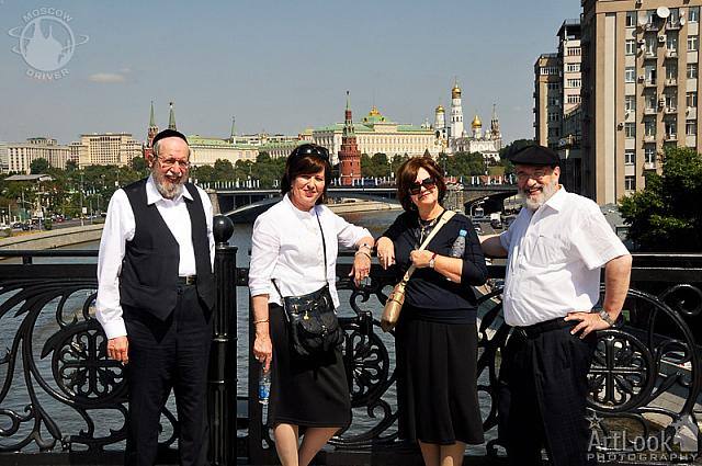 With Panorama of Moscow Kremlin