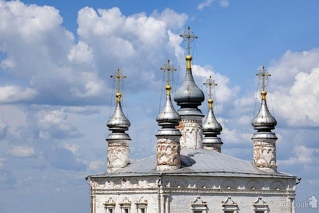 Elegant Silver Domes of All Saints Church (Pereslavl-Zalessky)