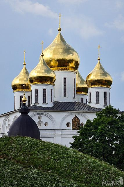 Magnificent Golden Domes of Assumption Cathedral in Dmitrov