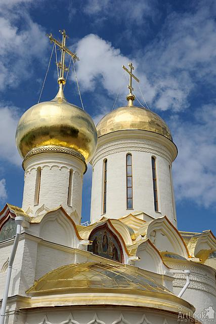 Golden Cupolas of Ancient Churches in Lavra (Sergiyev Posad)