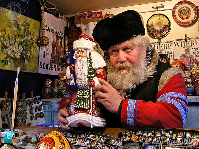 The Real Russian Vendor at Old Arbat