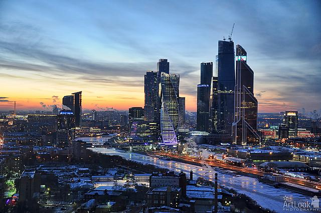Moskva-City at Frosty Sunset
