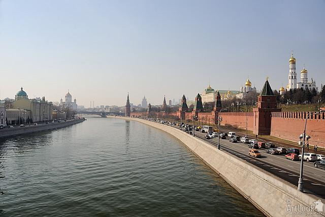 Kremlin Embankment and Moskva River