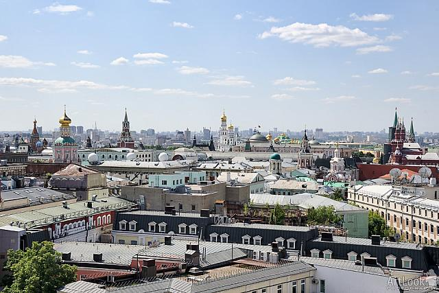 Towers and Roofs of the Buildings in Historical Center of Moscow