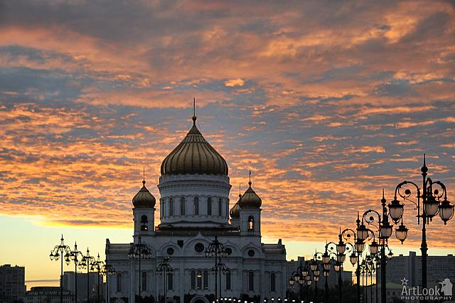Cathedral of Christ the Savior in the Sweet Light before Sunset