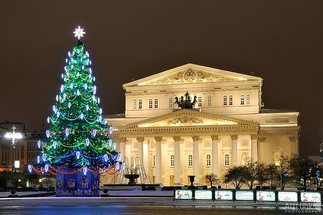 Bolshoi Theater before Christmas