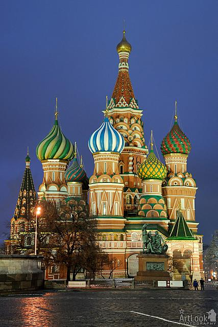 Darken Blue Skies over St. Basil's Cathedral