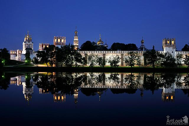 The Reflection of Fortified Walls of the Novodevichy Convent