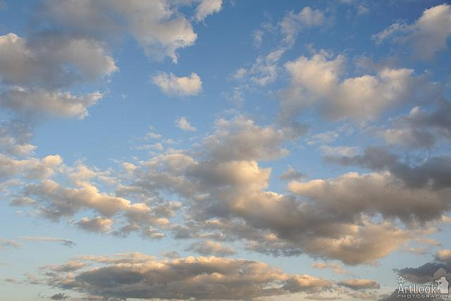 White Clouds at Sunset in Tsaritsyno