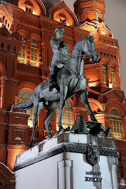 At the height of Fame and Greatness - Monument to Marshal Zhukov