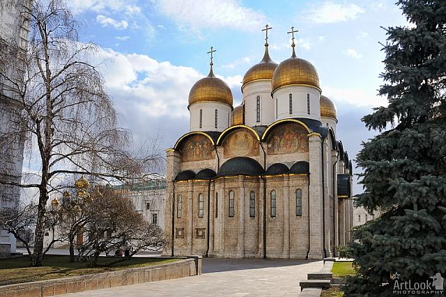 Dormition Cathedral Shining Under Beams of the Spring Sun