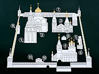 Schematic Map of Alexandrov Kremlin