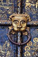 Lions' Heads on handles of the Golden Gates