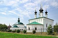 Ensemble of Suzdal Churches at Trading Rows in Summer