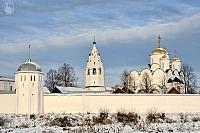 Behind the Walls of Intercession Convent in Winter Season