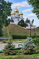 Landmarks of Dmitrov framed by Trees