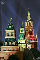 Light Beams Over Kremlin Towers