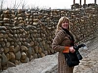 Walking at walls of Izmailovo Kremlin