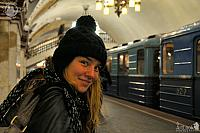 Waiting for the train on Kievskaya Metro Station