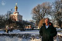 In grounds of famous Novodevichy convent