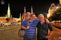 Hug on the Red Square at Night