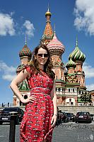 In front of Beautiful St. Basil's Cathedral