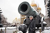 At the Tsar Cannon Covered by Snow