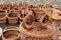 Wicker Bike with Basket