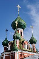 Onion domes of Vladimirsky Sobor in Pereslavl-Zalessky