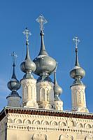 Silver Onion Cupolas of Smolenskaya Сhurch in Suzdal